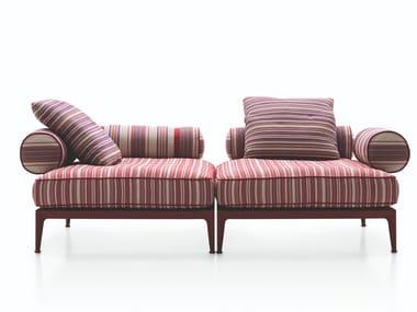 2 seater fabric garden sofa RIBES   2 seater garden sofa