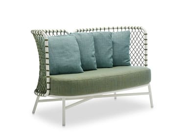 Sofa woven with polyester rope CHARME | Sofa