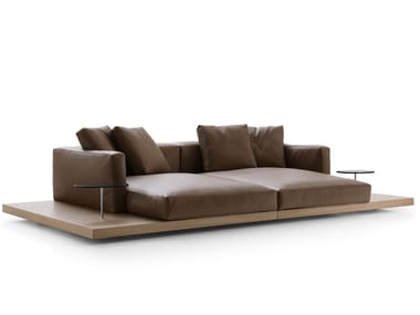 Leather sofa DOCK | Sofa