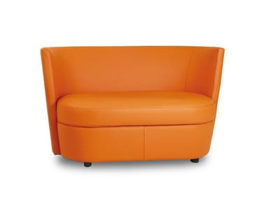 2 seater leather sofa DISCO | 2 seater sofa
