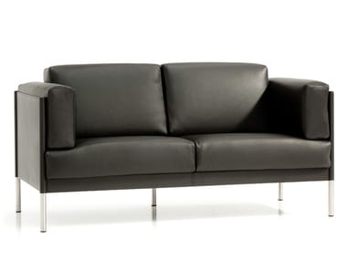 2 seater leather sofa QUADRA | 2 seater sofa