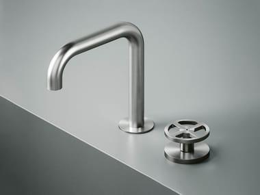 Hydroprogressive stainless steel washbasin mixer with adjustable spout Valvola02_20 31
