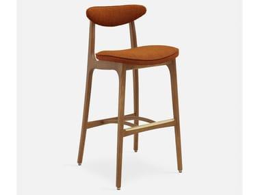 High velvet stool with back 200-190 | Stool