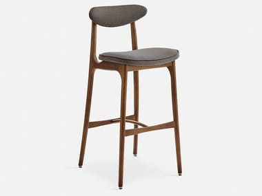 High wooden stool with back 200-190 TWEED | Stool