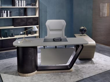 Wooden executive desk with drawers 2019 | Wooden office desk