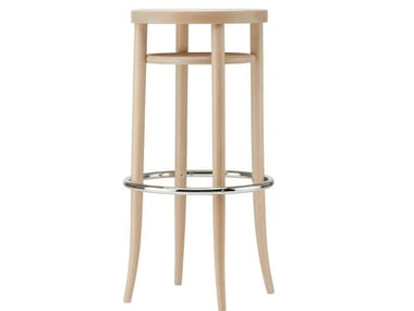 High stool with moulded plywood seat 204 MH