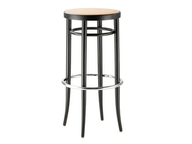 High barstool with seat in cane work 204 RH