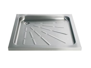 Anti-slip square stainless steel shower tray 2060 | Shower tray