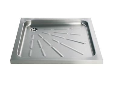 Piatto doccia antiscivolo quadrato in acciaio inox 2060 | Piatto doccia
