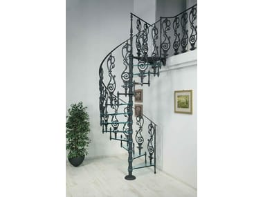 Cast Iron And Glass Spiral Staircase 2072 | Glass Spiral Staircase