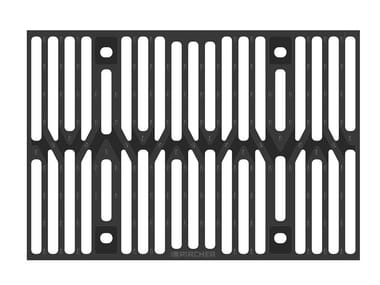 Manhole cover and grille for plumbing and drainage system Slotted grating d.i. Silt box