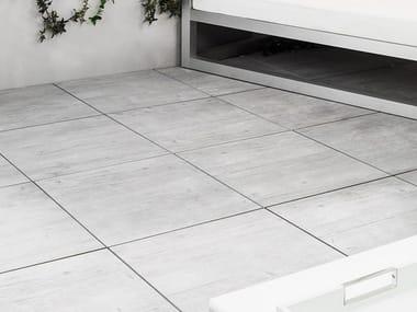 Outdoor floor tiles with wood effect 20MM - WEST GREY
