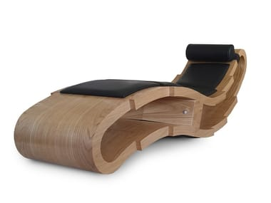 Rocking armchair / Chaise longue in wood 21   Chaise longue