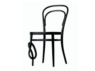 Solid wood chair with knot 214 K