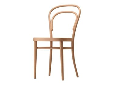 Wooden chair with moulded plywood seat 214 M