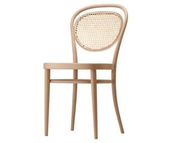 Wooden chair with seat and backrest in cane work 215 R