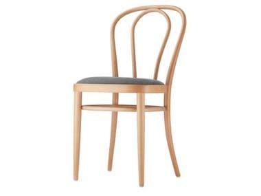 Sedia in legno con seduta imbottita 218 P