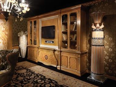 Libreria a parete in legno con porta tv 2260 | Libreria