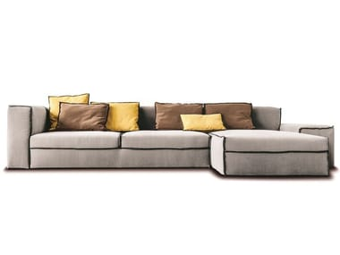 Sectional fabric or leather sofa 235 XSMALL
