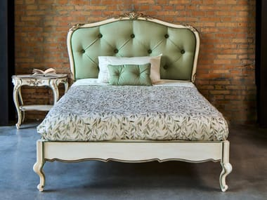 Double bed with tufted headboard 2507   Bed