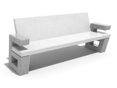 Panchina in calcestruzzo con schienale 252 | Panchina in calcestruzzo