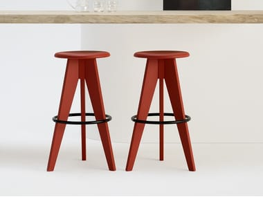High solid wood stool 2500