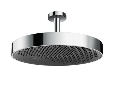 Ceiling mounted chromed brass overhead shower with arm RAINFINITY | Overhead shower with arm
