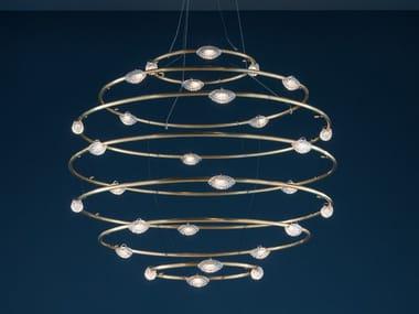 LED brass pendant lamp 28 PETITS BIJOUX