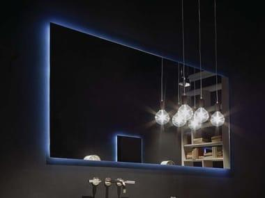 Rectangular wall-mounted bathroom mirror 2HD