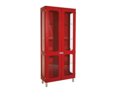 Wood veneer highboard / display cabinet 2K-SKÅP | 2K472