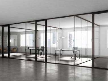 Tempered glass office partition 3-6-9