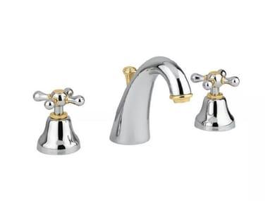 3 hole brass washbasin mixer with aerator LIBERTY   3 hole washbasin mixer
