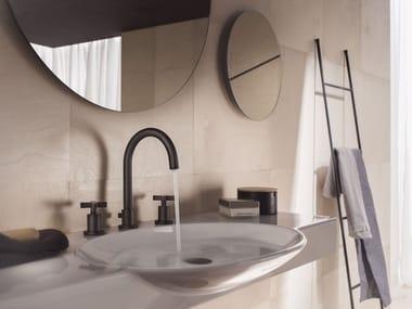 Rubinetto per lavabo a 3 fori con rosette separate LIRA | Rubinetto per lavabo a 3 fori