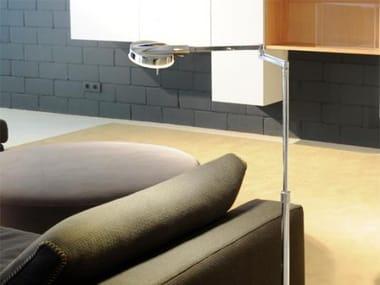 LED adjustable aluminium floor lamp with swing arm 3-LED 6343