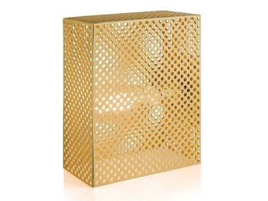 Brass table lamp GRID | Table lamp