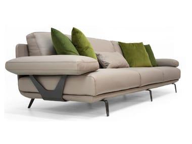 Sofá tapizado 3 plazas de cuero V127 | Sofá 3 plazas