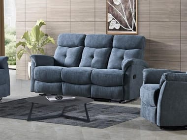 Recliner 3 seater fabric sofa HD-1802 | 3 seater sofa