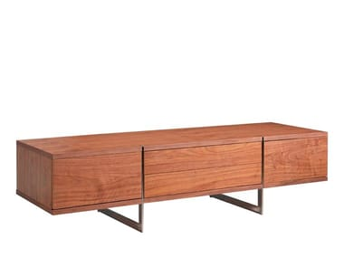 Low wood veneer TV cabinet with drawers 3045 | TV cabinet