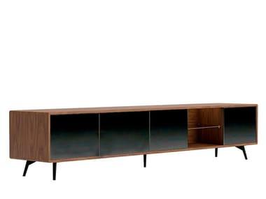 Low wood veneer TV cabinet 3048