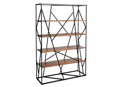 Open double-sided steel and wood bookcase 3103 | Bookcase