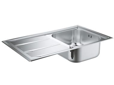 Lavello a una vasca semi filo top in acciaio inox con gocciolatoio K400+ - 31568SD0 | Lavello a una vasca