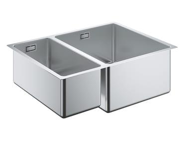 Lavello a una vasca e mezzo sottotop in acciaio inox K700 - 31576SD0 | Lavello