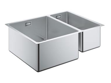 Lavello a una vasca e mezzo sottotop in acciaio inox K700 - 31577SD0 | Lavello