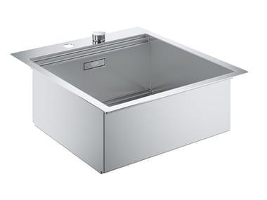 Lavello a una vasca filo top in acciaio inox K800 - 31583SD0 | Lavello