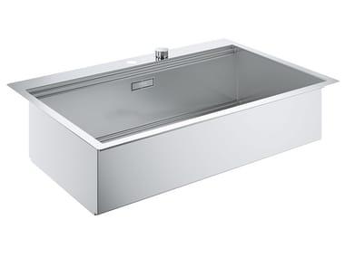 Lavello a una vasca filo top in acciaio inox K800 - 31584SD0 | Lavello