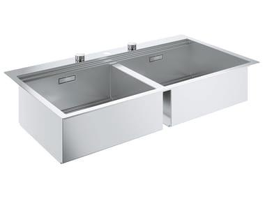Lavello a 2 vasche filo top in acciaio inox K800 - 31585SD0 | Lavello a 2 vasche