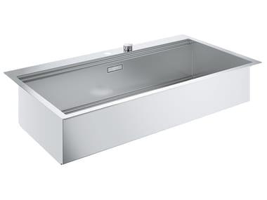 Lavello a una vasca filo top in acciaio inox K800 - 31586SD0 | Lavello
