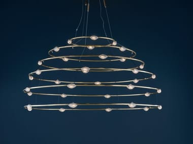 LED brass pendant lamp 32 PETITS BIJOUX