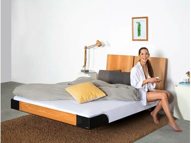 Wooden bed double bed with high headboard 325 | Bed double bed