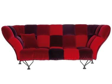 3 seater high-back velvet sofa 33 CUSCINI | Sofa